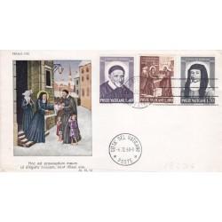 FDC Vaticano 1960 Unif. 295/97 S.Vincenzo de Paola e S.L. De Marillac v01
