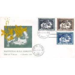 FDC Vaticano Ala 1960 Unif. 292/4 Natale