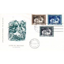 FDC Vaticano Filagrano 1960 Unif. 292/4 Natale