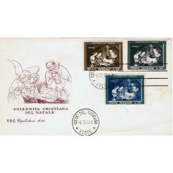 FDC Vaticano Capitolium 1960 Unif. 292/4 Natale
