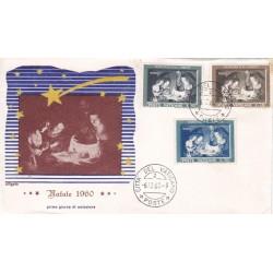 FDC Vaticano Tre Stelle 1960 Unif. 292/4 Natale