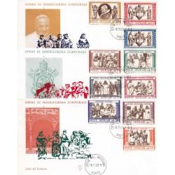 FDC Vaticano Ala 1960 Unif. 284/91 + esp Opera Di Misericordia Corporali