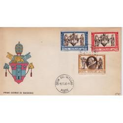 FDC Vaticano Milvio 1960 Unif. 291 E15 E16 esp Opera Di Misericordia Corporali