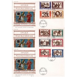 FDC Vaticano 1960 Unif. 284/91 + esp Opera Di Misericordia Corporali v01