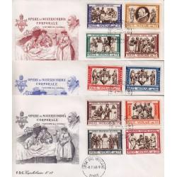 FDC Vaticano Capitolium 1960 Unif. 284/91 + esp Opera Di Misericordia Corporali
