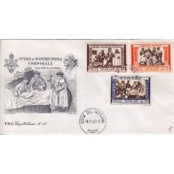 FDC Vaticano Capitolium 1960 Unif. 288/90 + esp Opera Di Misericordia Corporali v01