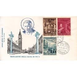 FDC Vaticano Filagrano 1960 Unif. 281/83 Traslazione salma di S.S. Pio X