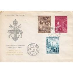 FDC Vaticano 1960 Unif. 281/83 Traslazione salma di S.S. Pio X