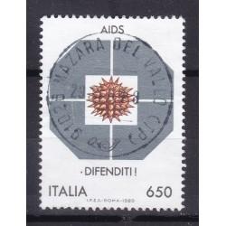 Italia 1989 Unif. 1873 AIDS usato