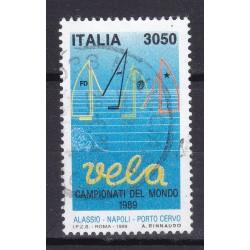 Italia 1989 Unif. 1878 Campionati Mondiali di vela usato