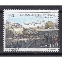 Italia 1989 Unif. 1898 Ferrovia Napoli Portici usato