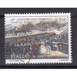 Italia 1989 Unif. 1899 Ferrovia Napoli Portici usato