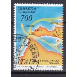 Italia 1990 Unif. 1906 Celebrazione Colombiane usato