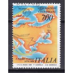 Italia 1990 Unif. 1907 Celebrazione Colombiane usato