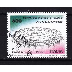 Italia 1990 Unif. 1916 Mondiali di Calcio 90 - San Paolo Napoli usato