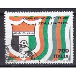 Italia 1990 Unif. 1926 Mondiali di Calcio 90 - Emirati Arabi usato