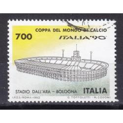 Italia 1990 Unif. 1930 Mondiali di Calcio 90 - Stadio dell'Aria Bologna usato
