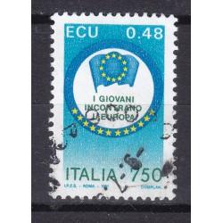 Italia 1991 Unif. 1976 I giovani incontrano l'Europa usato