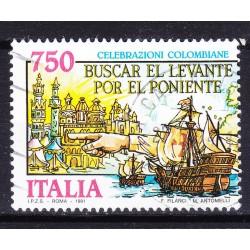 Italia 1991 Unif. 1977 Celebrazione Colombiane Scoperta dell'America usato