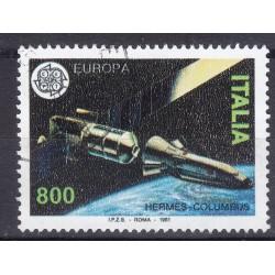 Italia 1991 Unif. 1984 Europa Spaziale usato