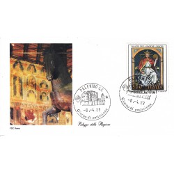 FDC Italia Roma 1989 Unif. 1876 Affreschi Palazzo Regione A/S