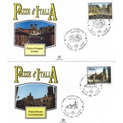 FDC ITALIA 1989 Filagrano Unif. 1879/80 Piazze D'Italia A/S