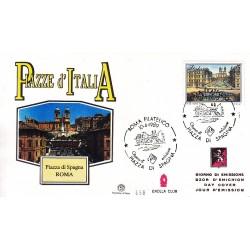 FDC ITALIA 1989 Grolla Club Unif. 1879 Piazze D'Italia A/S
