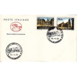 FDC ITALIA 1989 Cavallino Unif. 1879/80 Piazze D'Italia A/F Castellammare di Stabia