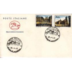 FDC ITALIA 1989 Cavallino Unif. 1879/80 Piazze D'Italia A/F Imola