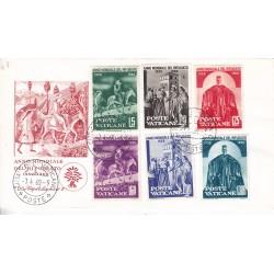 FDC Vaticano Capitolium 1960 Unif. 275/80 Anno Mondiale del Rifugiato