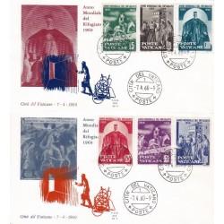 FDC Vaticano Ala 1960 Unif. 275/80 Anno Mondiale del Rifugiato