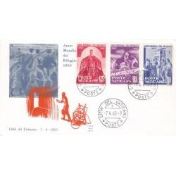 FDC Vaticano Ala 1960 Unif. 277-78-79 Anno Mondiale del Rifugiato