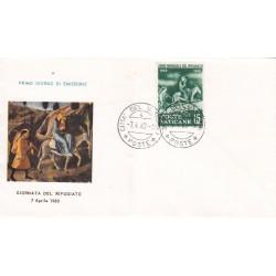 FDC Vaticano Milvio 1960 Unif. 277 Anno Mondiale del Rifugiato