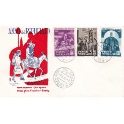 FDC Vaticano Milvio 1960 Unif. 276-78-80 Anno Mondiale del Rifugiato