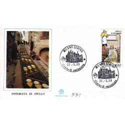 FDC ITALIA 1989 Filagrano Unif. 1884 Folclore Infiorata di Spello A/f Milano