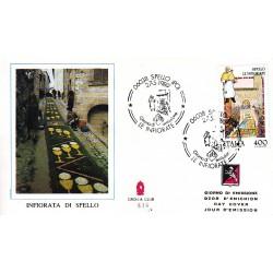 FDC ITALIA 1989 Grolla Club Unif. 1884 Folclore Infiorata di Spello A/f Milano