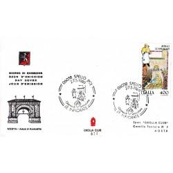 FDC ITALIA 1989 Grolla Club Unif. 1884 Folclore Infiorata di Spello A/S APG