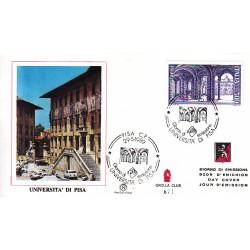 FDC ITALIA 1989 Grolla Club Unif. 1885 Scuole Università di Pisa A/S