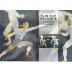 IT Repubblica 2003 Folder 04/04/2003 CAMPIONATI DEL MONDO DI SCHERMA CADETTI E JUNIORES - valore facciale € 6.00