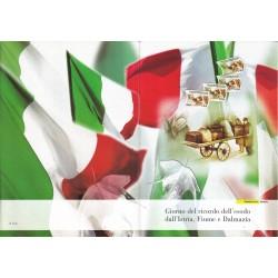 Folder Italia 2005 Esodo dall'Istra, Fiume e Dalmazia val. fac. € 10,00