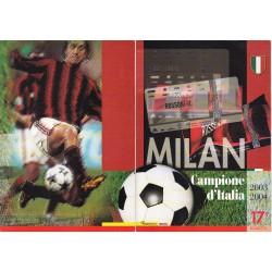 Folder Italia 2004 Milan Campione d'Italia val. fac. € 12,00