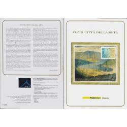Folder Italia 2001 Como città della seta val. facciale € 15.00