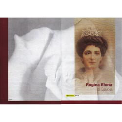 Folder Italia 2002 Regina Elena di Savoia, val. facciale € 9.00