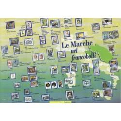 Folder Italia 2003 Le Marche nei francobolli val. fac. € 5,00