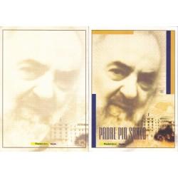 Folder Italia 2002 Padre Pio Santo val. fac. € 5,00