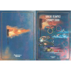 Folder Italia 2000 Giochi Olimpici Sydney 2000 val. fac. € 10,33