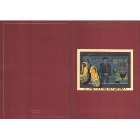 Folder Italia 2000 Fiera di Sant'Orso 2000 val. fac. € 5,16