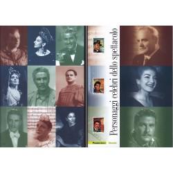 Folder Italia 2007 Personaggi celebri dello spettacolo val. fac. € 20,00