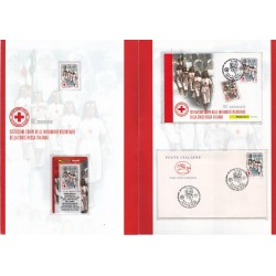 Folder Italia 2008 Volontarie Croce Rossa Italiana val. fac. € 9,00