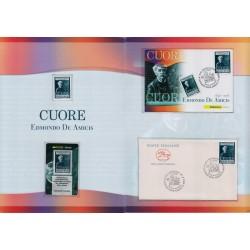 Folder Italia 2008 Edmondo De Amicis Cuore val. fac. € 9,00